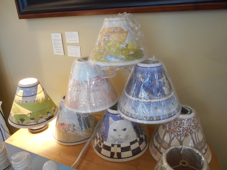 Newsinfo hansens lamp and shade imago hand painted and peek a boo lamp shades aloadofball Images